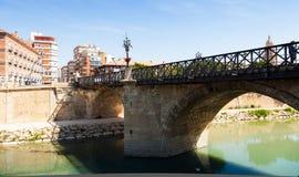 Visibilité directe Peligros de Puente De dans le jour ensoleillé. Murcie Image stock