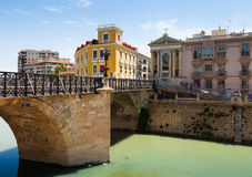 Visibilité directe Peligros de Puente Viejo De à Murcie, Espagne Photos stock