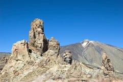 Visibilité directe Roques, stationnement national d'EL Teide image libre de droits