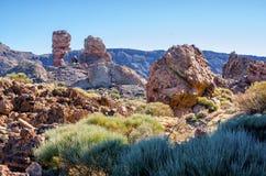 Visibilité directe Roques sur Ténérife Images stock