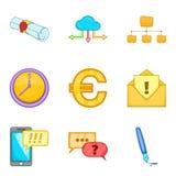 Visibility icons set, cartoon style. Visibility icons set. Cartoon set of 9 visibility vector icons for web  on white background Stock Image