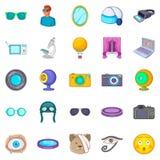 Visibility icons set, cartoon style. Visibility icons set. Cartoon set of 25 visibility vector icons for web isolated on white background Stock Photo