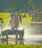 Visibility at the water jump. Stock Photo