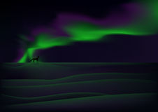 Visible aurora Stock Photo
