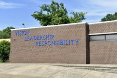 Visie, Leiding, Verantwoordelijkheid, Ida B Puttenacademie, Memphis, TN stock fotografie