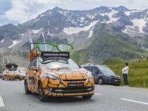 Visie plus Voertuig - Ronde van Frankrijk 2014 Royalty-vrije Stock Foto's