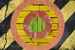 Visieren Sie geformte Collage an, mit dem unterschiedlichen Boden- und Wandmaterial Stockfoto
