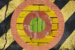 Visieren Sie geformte Collage an, mit dem unterschiedlichen Boden- und Wandmaterial Stockfotos