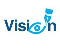 Visiethema Logo Concept Royalty-vrije Stock Fotografie