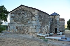 The Visigoth Basilica of Santa Lucia del Trampal in Alcuescar. Spain Stock Image