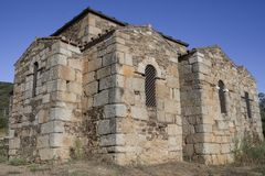Visigothic Basilica of Santa Lucia del Trampal. Chapels outdoors Stock Photography