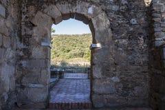 Visigothic Basiliek van Santa Lucia del Trampal, Alcuescar, Spanje Royalty-vrije Stock Foto's