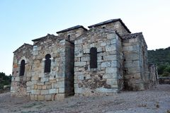 The mozarabic basilica of Trampal in Alcuescar. Spain Royalty Free Stock Images