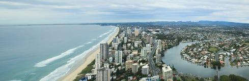 Visión aérea en Gold Coast Foto de archivo libre de regalías