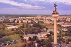 Visión aérea sobre la ciudad de Galati Imagen de archivo