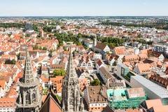 Visión aérea sobre la ciudad de Ulm Foto de archivo libre de regalías