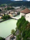 Visión desde el castillo de Kufstein Fotos de archivo libres de regalías