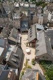 Visión desde la torre de reloj, Dinan, Francia Imagenes de archivo