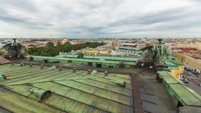 Visión superior desde la columnata de la catedral de StIsaac Fotografía de archivo libre de regalías