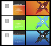 Vising cards - two sided - 1. Fresh designs for card, 100% vectors Royalty Free Stock Photography