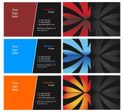 Vising cards - two sided - 10. Fresh designs for card, 100% vectors Stock Photos