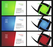 Vising cards - two sided - 12. Fresh designs for card, 100% vectors Stock Photos