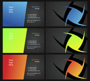 Vising cards - two sided - 13. Fresh designs for card, 100% vectors Stock Photography