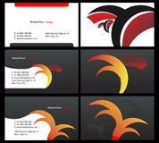 Vising cards - two sided - 15. Fresh designs for card, 100% vectors Stock Photo