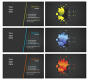 Vising cards - two sided - 19. Fresh designs for card, 100% vectors Royalty Free Stock Images