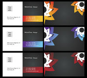 Vising cards - two sided - 6. Fresh designs for card, 100% vectors Royalty Free Stock Images