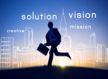 Visionäres Vision Visional-Ideen-Kreativitäts-Ehrgeiz-Konzept stockbild