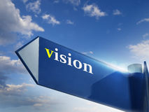 Vision. Road sing for business and financial concepts Royalty Free Stock Images