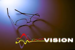 Vision. Eyeglasses with vision graphic Royalty Free Stock Images