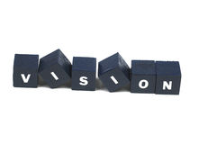 Vision. The word vision spelled out Royalty Free Stock Photos