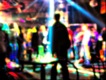 Vision. Club crowd shot. This vision of the person who is under alcoholic or narcotic intoxication Stock Images