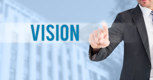 Vision against blue background Royalty Free Stock Photos