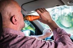 Vision altérée après alcool Photo stock