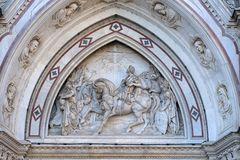 Vision av Constantine, basilika av Santa Croce i Florence arkivbilder