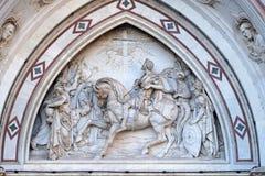 Vision av Constantine, basilika av Santa Croce i Florence royaltyfri bild