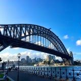 Vision av den Sydney bron Arkivfoto