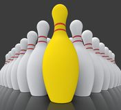 Vision Bowling Skittles Showing Achieving Royalty Free Stock Photos