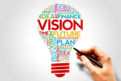 Vision. Bulb word cloud, business concept Stock Photo