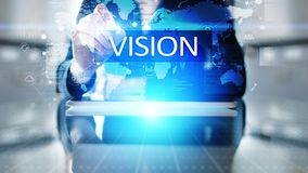 Vision, Business intelligence and strategy concept on virtual screen. stock photo