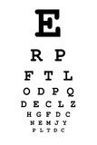 Vision Chart. Standard chart used for determining visual acuity at an optometry office stock illustration