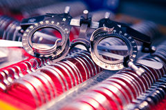 Vision check goggles - optics Stock Photo