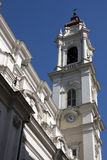 Vision of a church tower in the city of Turin. View of the city of turin Royalty Free Stock Image