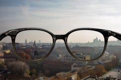 Vision claire par des verres Photo libre de droits