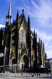 A vision of Cologne Cathedral with Blue Sky Stock Photos