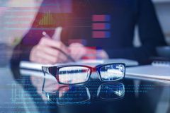 Vision and computing concept stock image