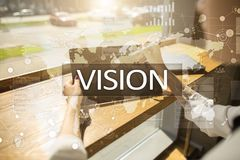 Vision concept. Business, Internet and technology concept. Vision concept. Business, Internet and technology concept royalty free stock photography